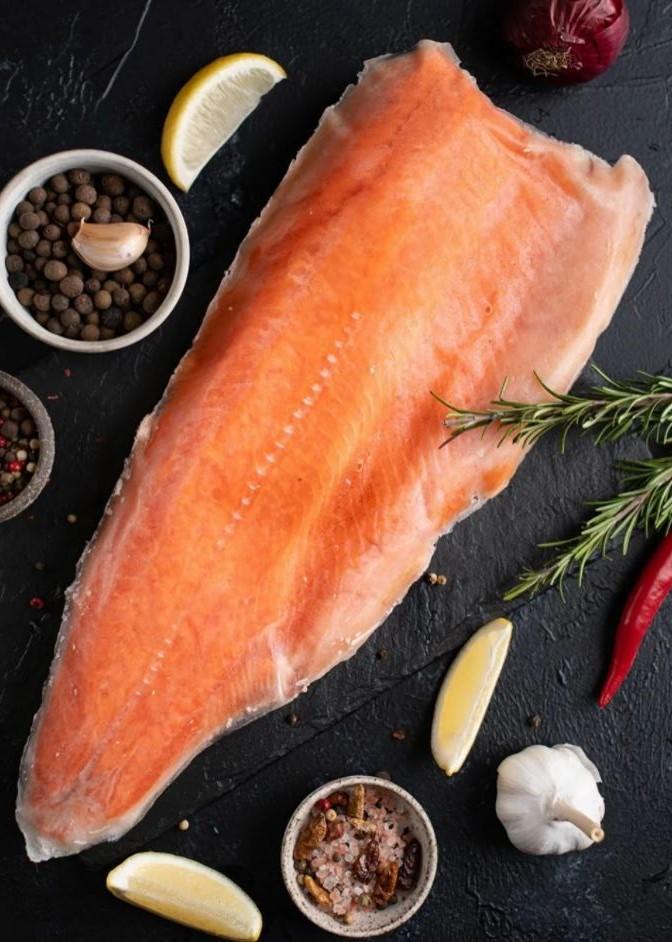 Филе лосося свежемороженое